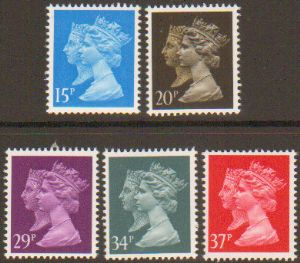 SG1467-1474 1990 150th Annivsersary of the Penny Black Set of 5